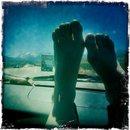 the obligatory 'feet on the dashboard' roadtrip shot